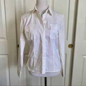 New York & Company Button Up Shirt Medium